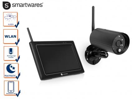 Wlan Überwachungskamera + Monitor, Nachtsichtkamera Außenkamera mit Appsteuerung
