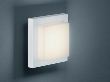 LED Außenwandleuchte Weiß, Terrassenbeleuchtung Wand & Decke, DESIGN Außenlampe