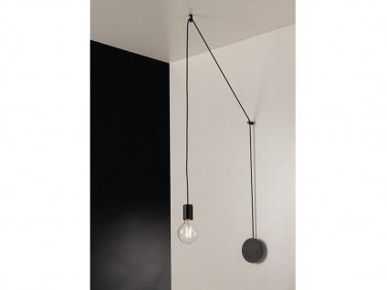 Außergewöhnliche Pendelleuchte 1-flammig Schwarz - Designerlampe für Wandmontage