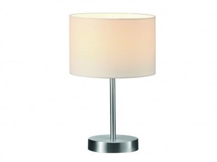 TRIO Design Nachttischleuchte Lampenschirm Stoff rund weiß Ø20cm E14 - Flurlampe - Vorschau 1