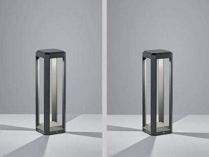 50cm hohe LED Gartenleuchten aus ALU in anthrazit, 2er SET Gehwegleuchten IP65