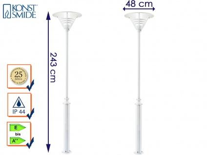 2er Set Konstsmide Mastleuchte Gartenlaterne weiß, Straßenlaterne Standleuchte - Vorschau 1