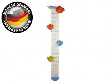 Verspielte Messlatte aus Holz, Made in Germany, 70-150cm, FISCHE, Niermann