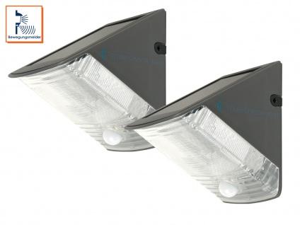 2er-Set LED Solarleuchte mit 100° Bewegungsmelder, max. 8m