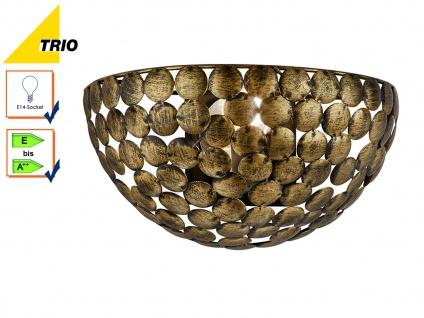 Wandleuchte Wandlampe FRIEDA Metall Altmessing Breite 28cm E14-Fassung - Vorschau 1