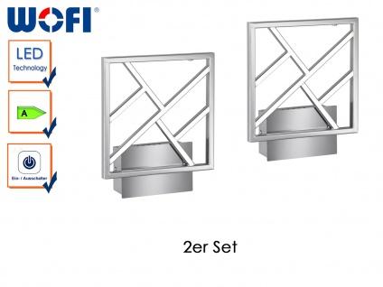 2er Set Wandleuchte in Silber mit Schalter, Wandlampe Wohnzimmerlampe Flurlampe