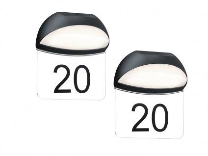 2er SET LED Hausnummernleuchten MUGA für draußen aus Aluminium Anthrazit, IP54