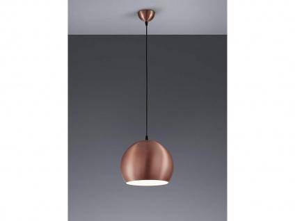 Schöne Pendelleuchte 1 flammig Metall Lampenschirm in Kupfer für Esszimmertisch