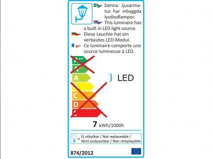 2er Set LED Außenwandleuchte Alu Anthrazit, 6W IP54 Fassadenbeleuchtung Garten - Vorschau 4