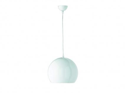 Coole LED Pendelleuchte 1 flammig Metall Lampenschirm in Weiß für Esszimmertisch