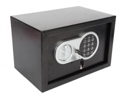 Elektronischer Safe mit Zahlencode, LED & Notschlüssel, Möbeltresor Geldtresor