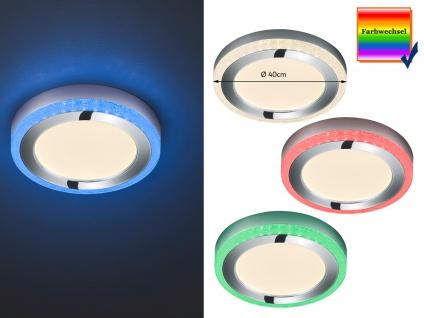 Dimmbare LED Deckenleuchte SLIDE Ø40cm Höhe 4cm mit Fernbedienung Farbwechsler