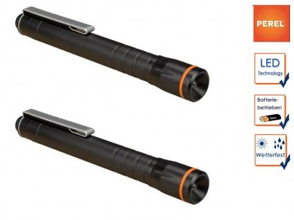 2Stk. Taschenlampen mit Befestigungsclip, LED Penlight für Beruf Freizeit Hobby - Vorschau 1