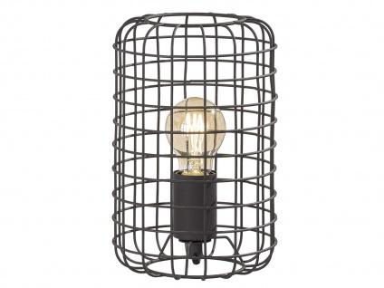 Vintage Tischleuchte 25cm mit Filament LED, Gitterlampe schwarz im Industrielook - Vorschau 2