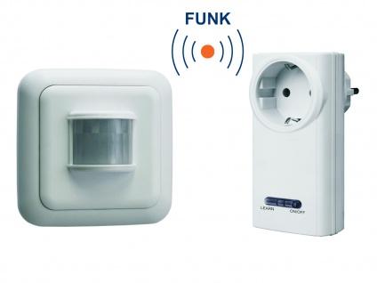 Funk Schalter Set = Funk Steckdose + Bewegungsmelder 3500W 110° / 6 Meter