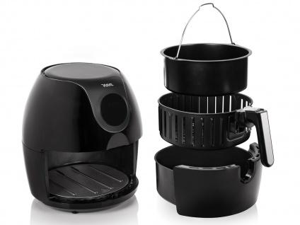 Digitale Heißluftfritteuse & Zubehör 5, 2Ltr. Frittieren ohne Öl mit XXL Fritöse - Vorschau 4