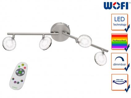 LED Deckenleuchte Fernbedienung dimmbar Farbwechsel Nachtlicht 4 Spots Strahler - Vorschau 1