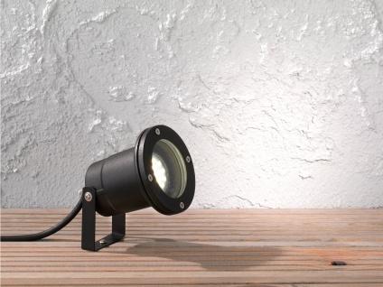 Schwarze Außenleuchte mit Erdspieß oder Außenwandleuchte GU10, Garten Wegelampe - Vorschau 5
