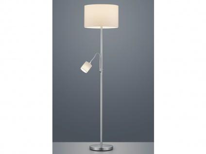 LED Stehleuchte & Leselampe Stoffschirm weiß für Wohnzimmer Stehlampen zum Lesen