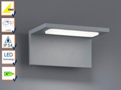 Moderne LED Außenwandleuchten in Grau - 2er Set Terrassenbeleuchtung Wandlampen - Vorschau 5