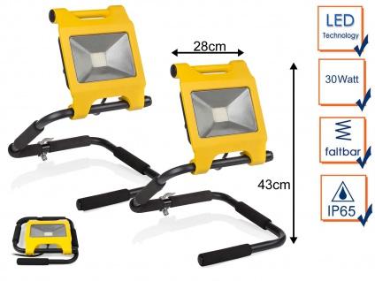 2er Set 30 Watt LED Baustrahler klappbar - IP65 Arbeitsleuchten Baustellenlampen