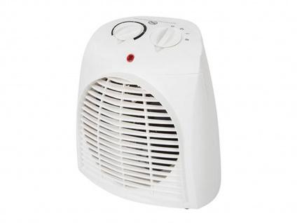 Elektrischer Heizlüfter mobil mit Ventilator & Thermostat - auch fürs Badezimmer
