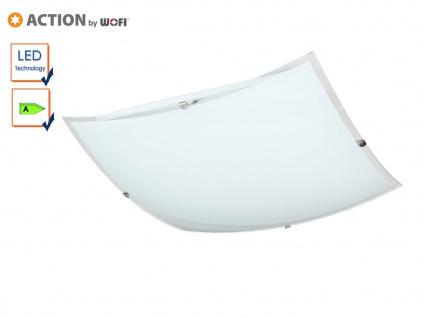 LED Deckenleuchte eckig, 30x30 cm, Glas weiß, Action by Wofi