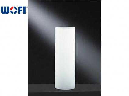 Tischleuchte Glaszylinder weiß, Ø 10cm / H 30cm, Wofi-Leuchten