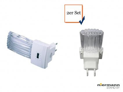 2er Set LED Nachtlichter mit Dämmerungsauotmatik, weiß Nachtlampe Kinderzimmer