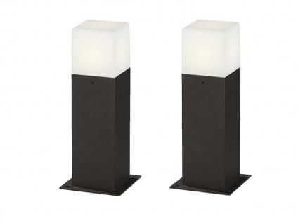LED Sockelleuchte in Anthrazit 30cm - 2er Set Terrassenbeleuchtung Wegeleuchten - Vorschau 2