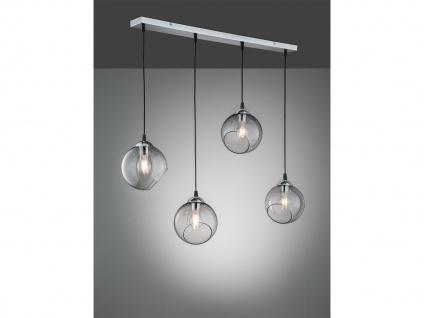 Designer LED Pendelleuchte Lampenschirme Kugelform Ø20m aus Rauchglas 4 flammig