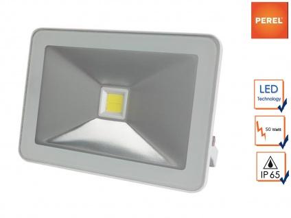 LED Arbeitslampe Fluter 50W warmweiß, Scheinwerfer Flutlicht Baustrahler weiß