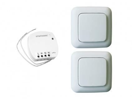 Funk Schalter Set = Mini Funk-Einbauschalter + 2 Funk-Wandschalter Fernbedienung - Vorschau 2