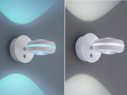 WIZ LED Wandleuchte in Weiß matt mit Alexa oder App steuern - fürs Wohnzimmer - Vorschau 4