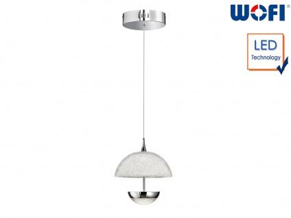 LED Pendelleuchte Chrom Acrylglas Crush-Optik Ø 21, 5cm Wohnraumleuchte Esstisch - Vorschau 1
