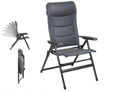 Campingstuhl / Liegestuhl Napoli XL, in 7 Positionen verstellbar, Dunkelgrau
