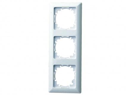 3-fach Rahmen/Schalterblende aus Kunststoff, in polarweiß, GAO