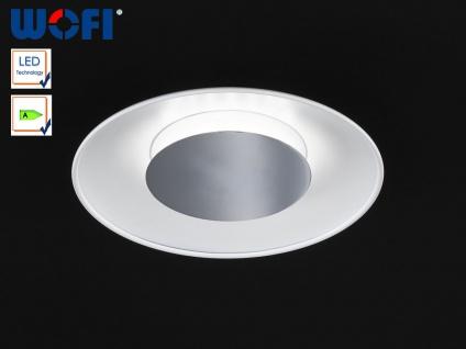LED Deckenleuchte 30 cm, Metall weiß / Chrom, Wofi-Leuchten