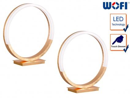 2 LED Tischleuchten Golden H. 31cm Touchdimmer moderne Tischlampe Designleuchte