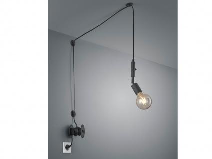 LED Pendelleuchte Schwarz mit Stecker für Steckdose 6m langes Kabel Hängelampen
