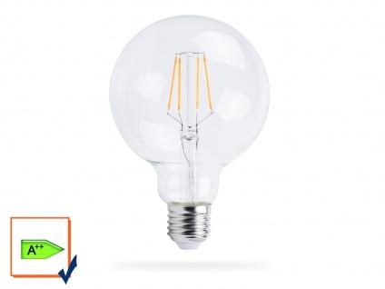 FILAMENT LED Leuchtmittel Globe E27, 6 Watt, 806 Lumen, 2700 Kelvin, warmweiß