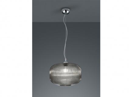 1 flammige Designer LED Pendelleuchte Lampenschirm Kugelform Ø35cm aus Rauchglas