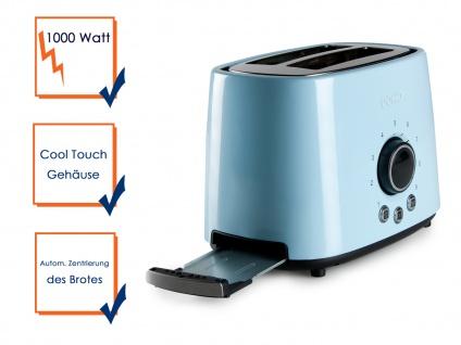 Retro Toaster zwei Scheiben Toaster Restzeitleuchte automatischer Zentrierung