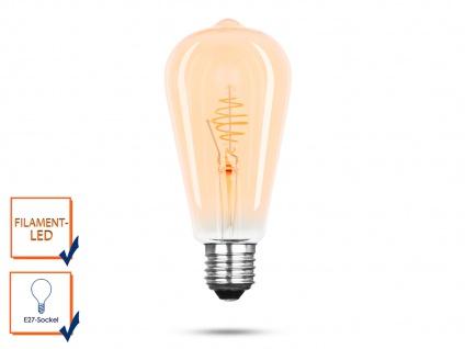 FILAMENT LED Leuchtmittel ST64 mit 3 Watt, 150 Lumen, 2000 Kelvin, E27-Sockel