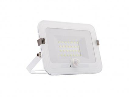 20W LED Strahler weiß, Fluter mit Bewegungsmelder, flaches Design, IP44