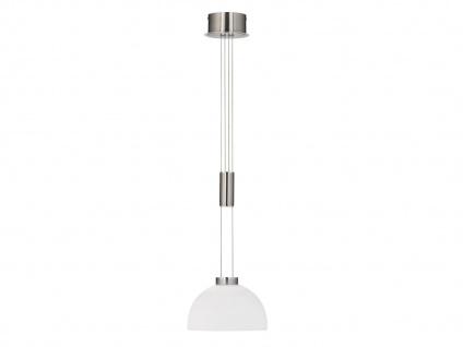 LED Pendelleuchte Ø25cm dimmbar & höhenverstellbar mit weißem Lampenschirm Glas