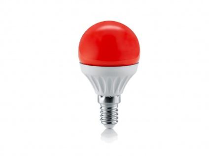 LED Leuchtmittel mit einem E14 Sockel, Energielampe aus rotem Glas nicht dimmbar