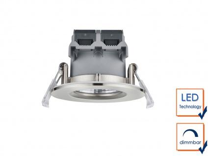 LED Einbaustrahler Decke 4er Set rund dimmbar Nickel matt 5, 5W Deckenleuchten - Vorschau 4