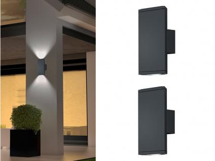2 Stk. Trio LED Außenleuchten Up & Down anthrazit, Außenbeleuchtung Hauswand