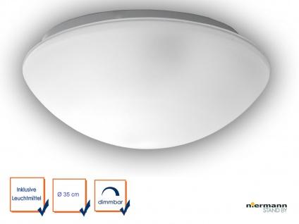 LED Flurlampe Dielenbeleuchtung Deckenschale rund Ø 35cm Glaslampe SATINIERT